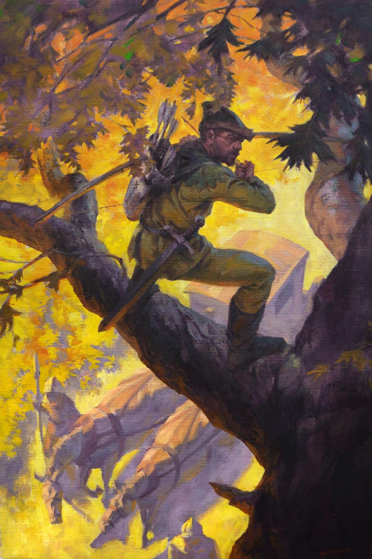 Robin Hood Oil on Canvas $1800