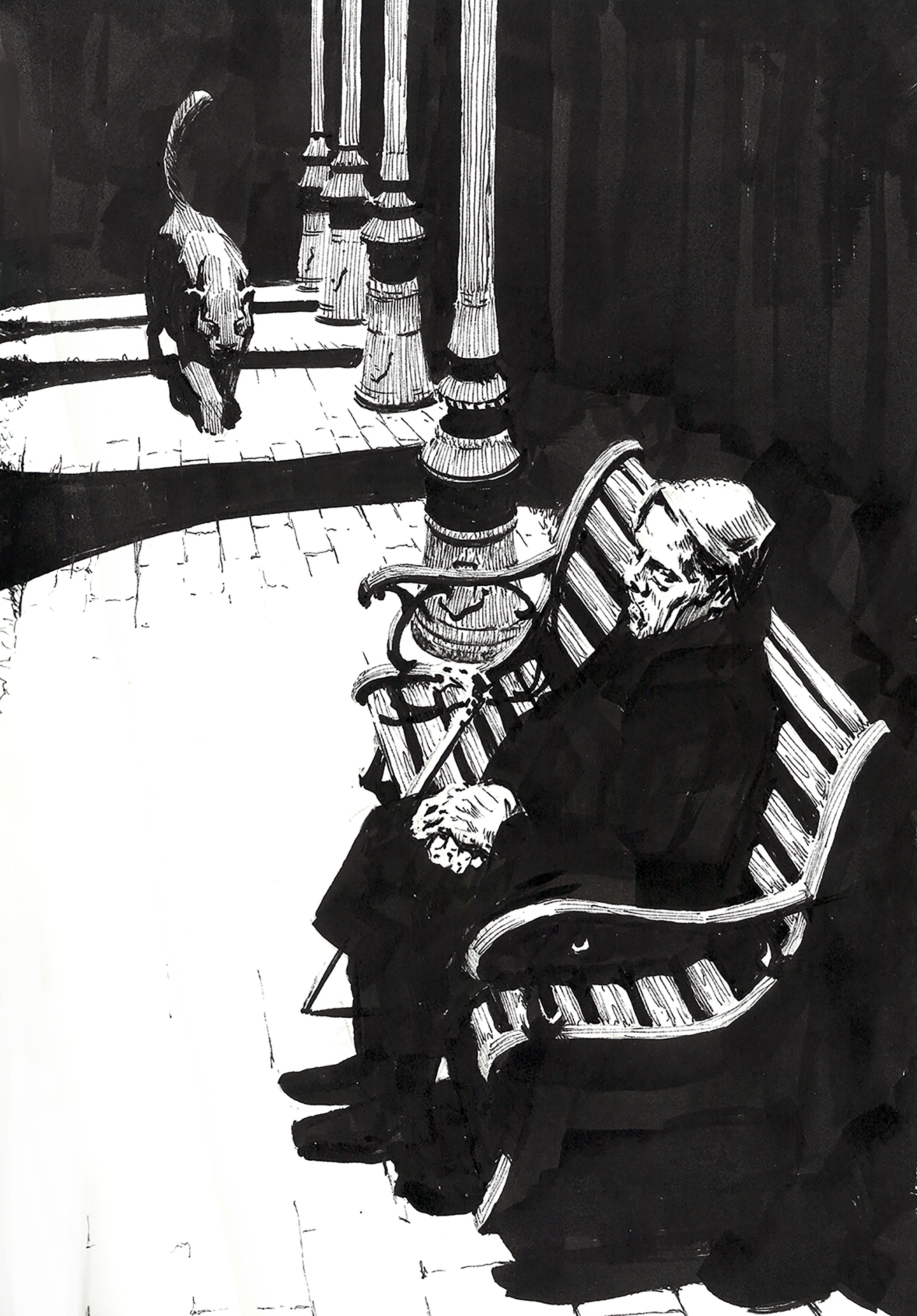 Black Cat Ink on Paper - Original Available