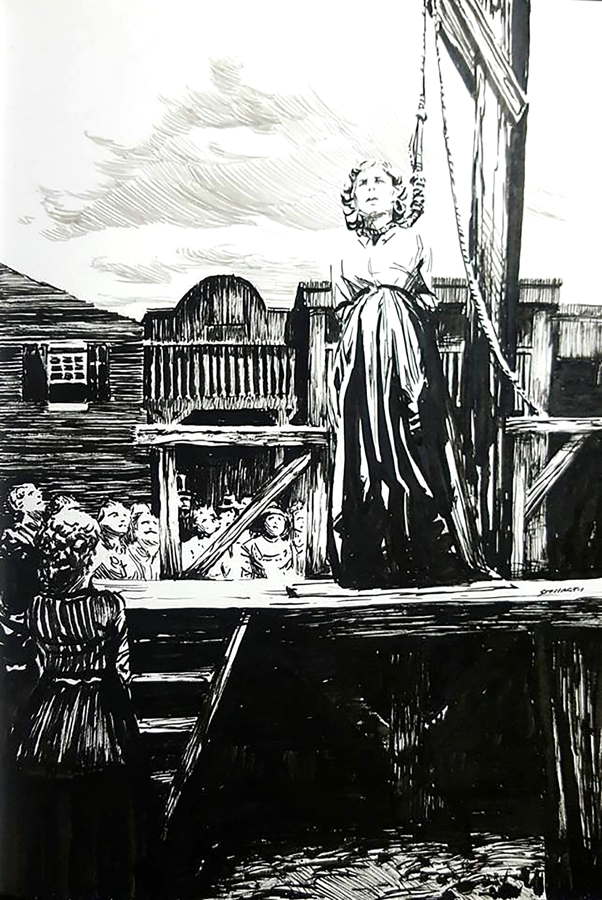 Gallows $400 Ink drawing on 17x28cm paper