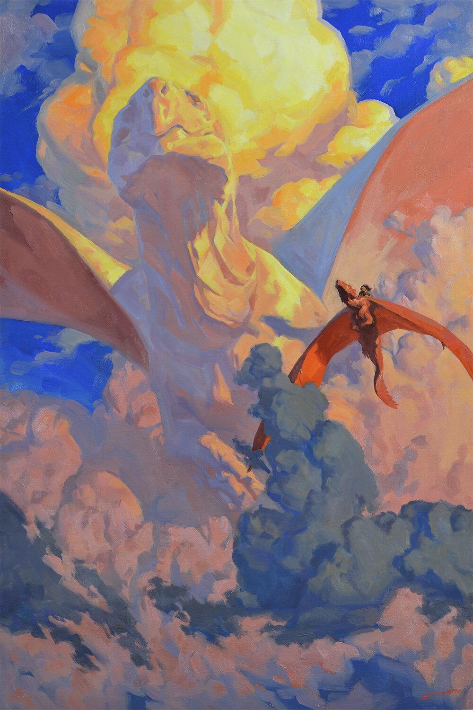 "Cloud Dragon Oil on 20x30"" canvas $2500"