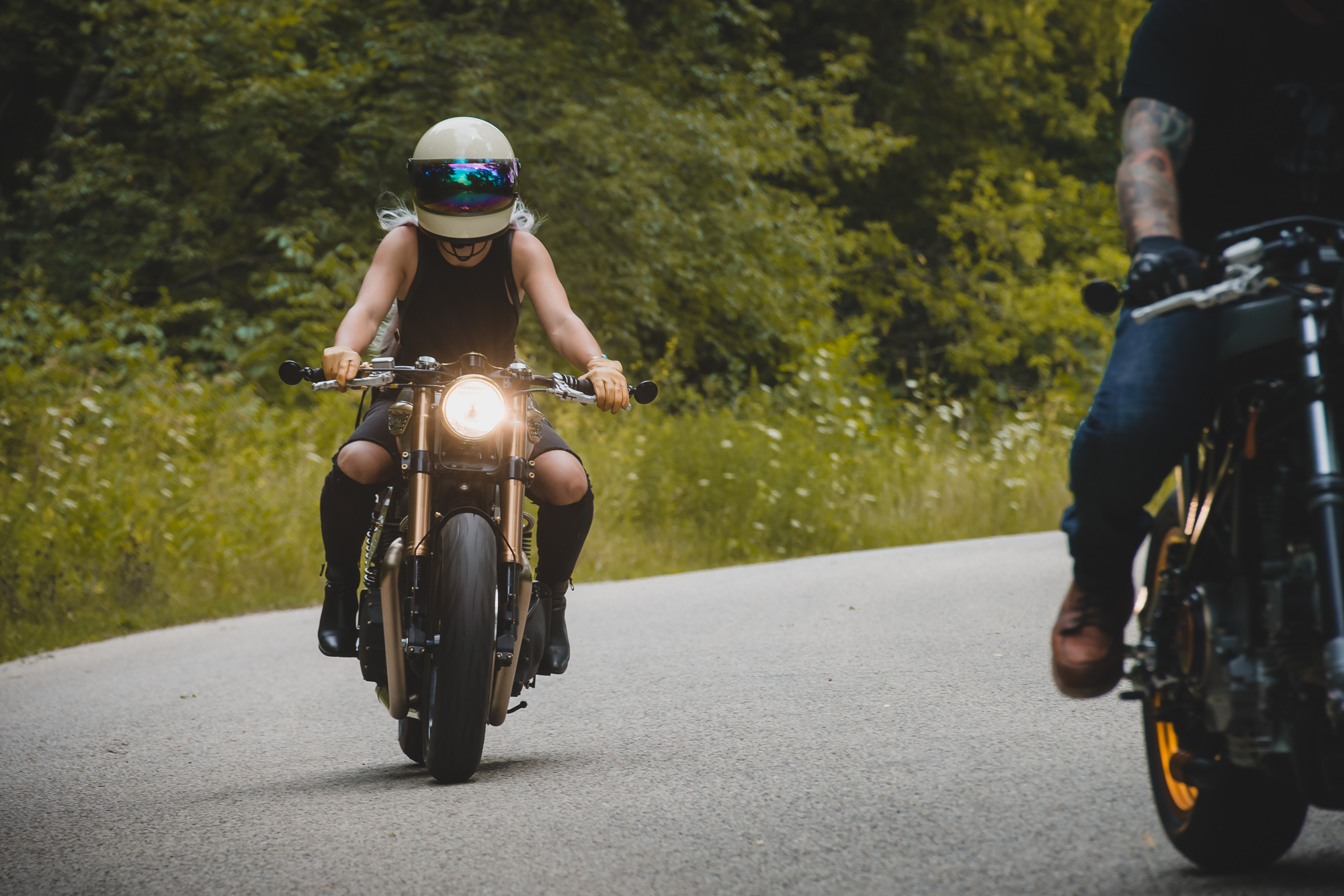 Jessica Haggett with Analog Motorcycles