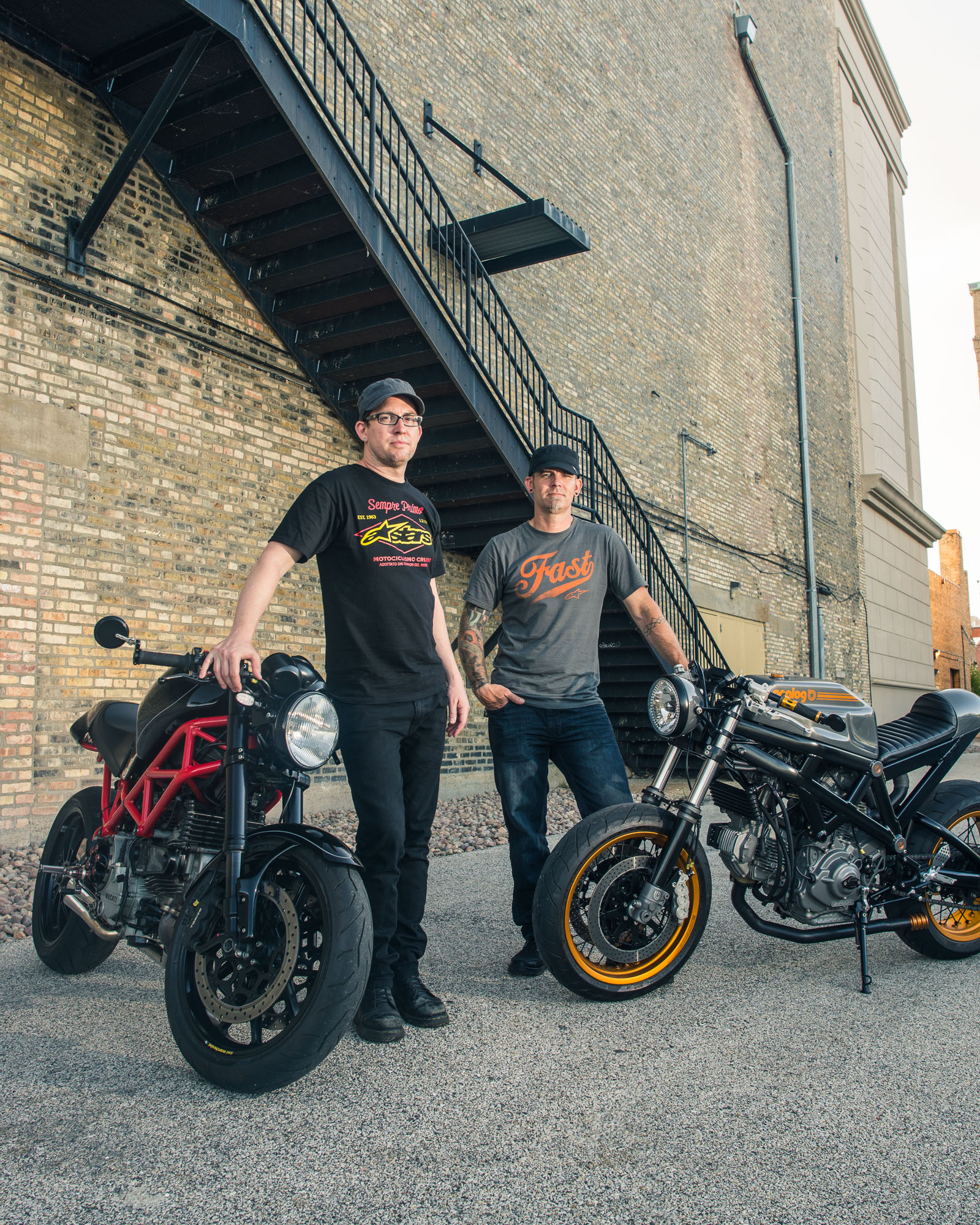 Sam Loeffler and Tony Prust for Sports Bike Inc Magazine