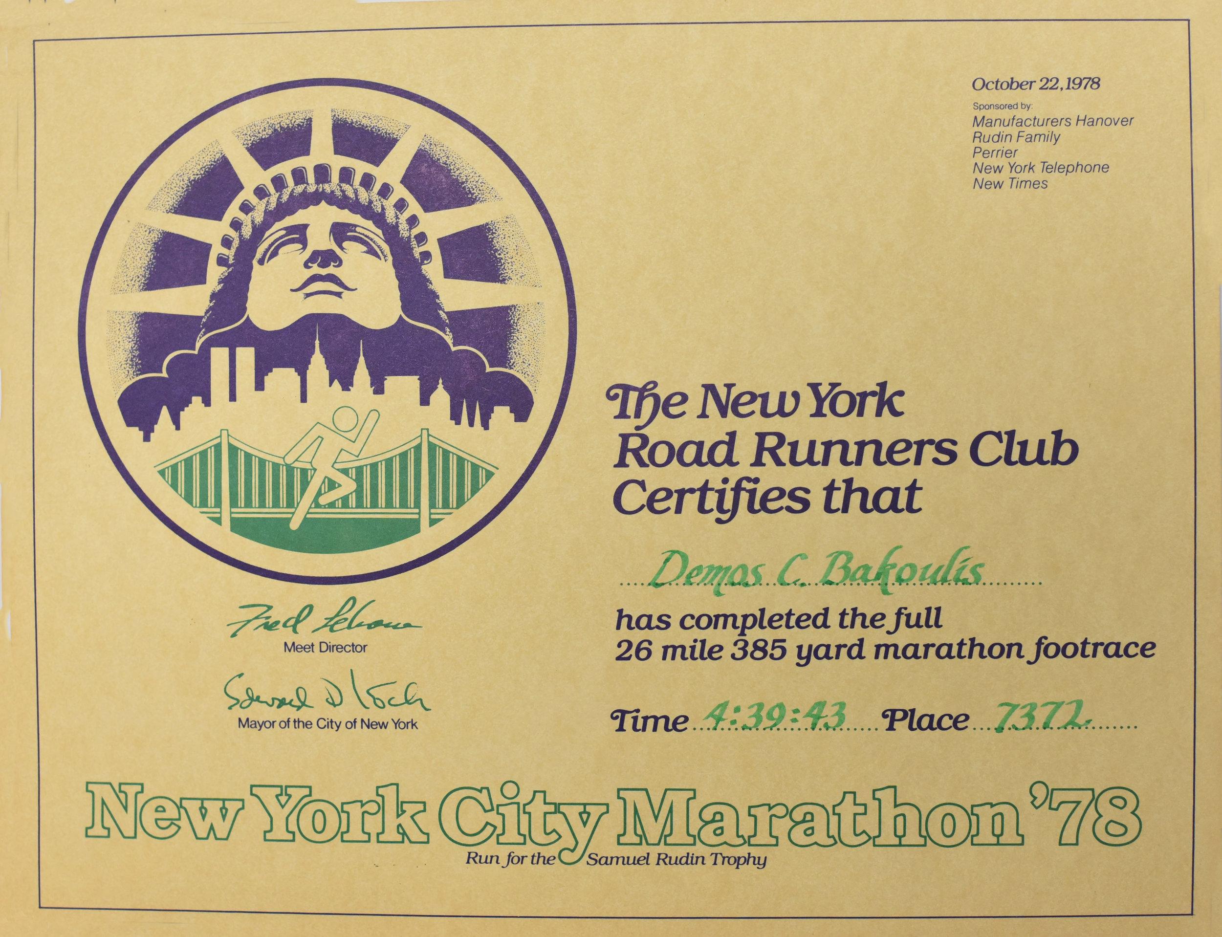 Dad marathon 1978 finisher certificate.jpg