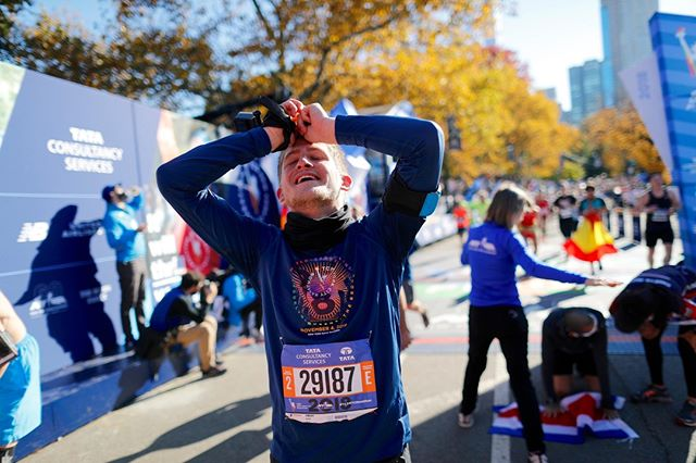 #TFW you get to the finish feeling stronger than you ever believed! Train for the #TCSNYCMarathon with a plan designed for YOU. ⏰  You're still on time to sign up for the NYRR Virtual Training 12-week plan at: nyrr.org/train/virtual-training.