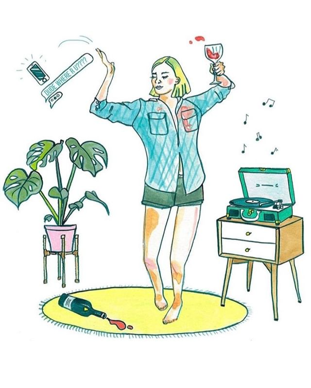 Winter hibernation mode - time to enjoy sat night with your true love, YOU. Time to chill at home and d-party solo, because no one is watching. . You in? . 🎨♥️ by boss babe @julimanson✨ ✨ ✨ ______________________________________________ #hersundayritual #mysundayritual #sundayritual #rituals #mindbodysoul #spiritualquotes #spiritjunkie#womensupportingwomen #personalgrowth #torontolife #spiritualgangster #spiritualgrowth #intentionsetting #selfcarematters #selfcaretips #meditation #mindfulness #loveandlight #mindbodygreen #goddess #hercollectives