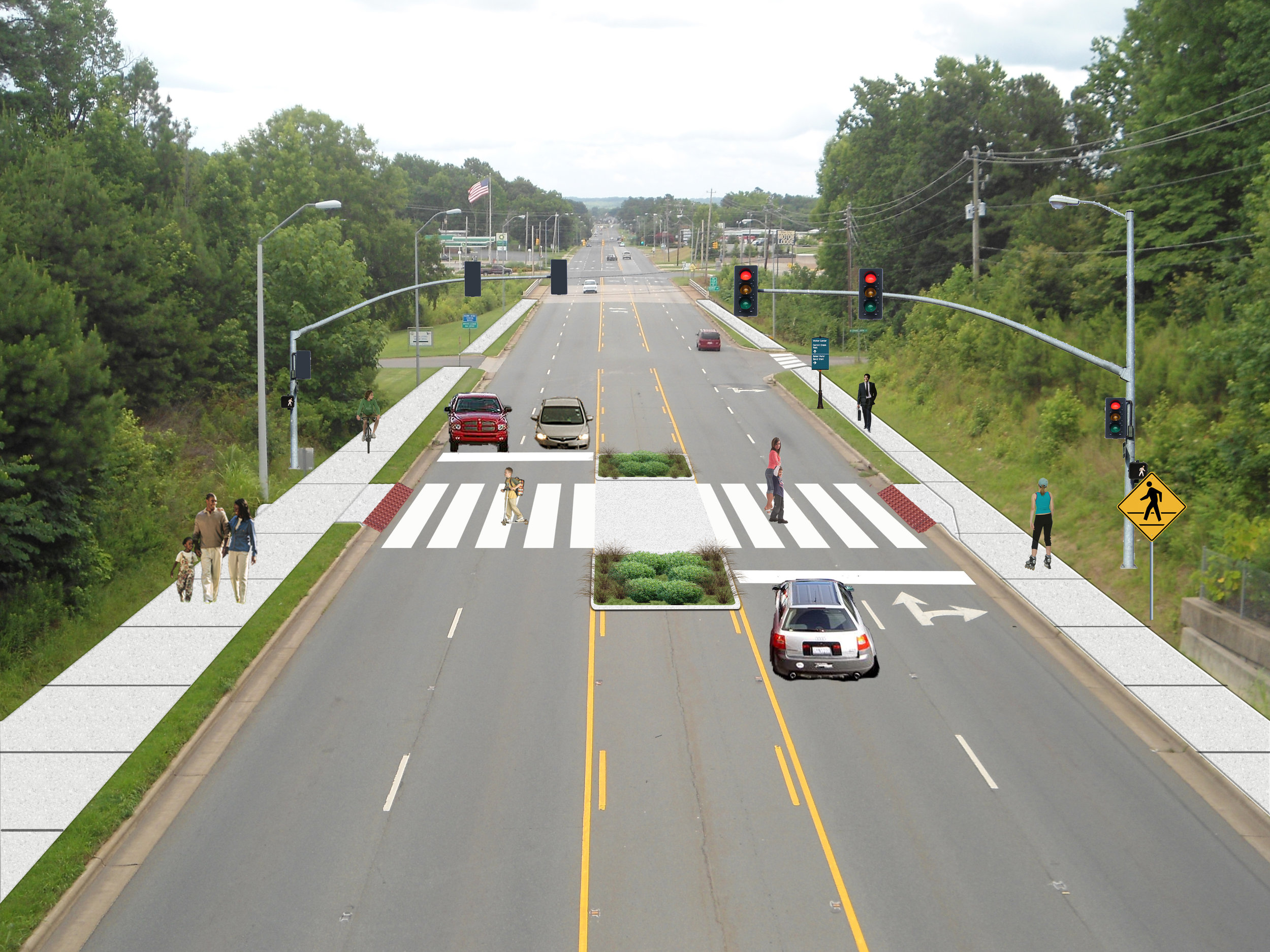 US Hwy 64 Proposed Pedestrian Improvements