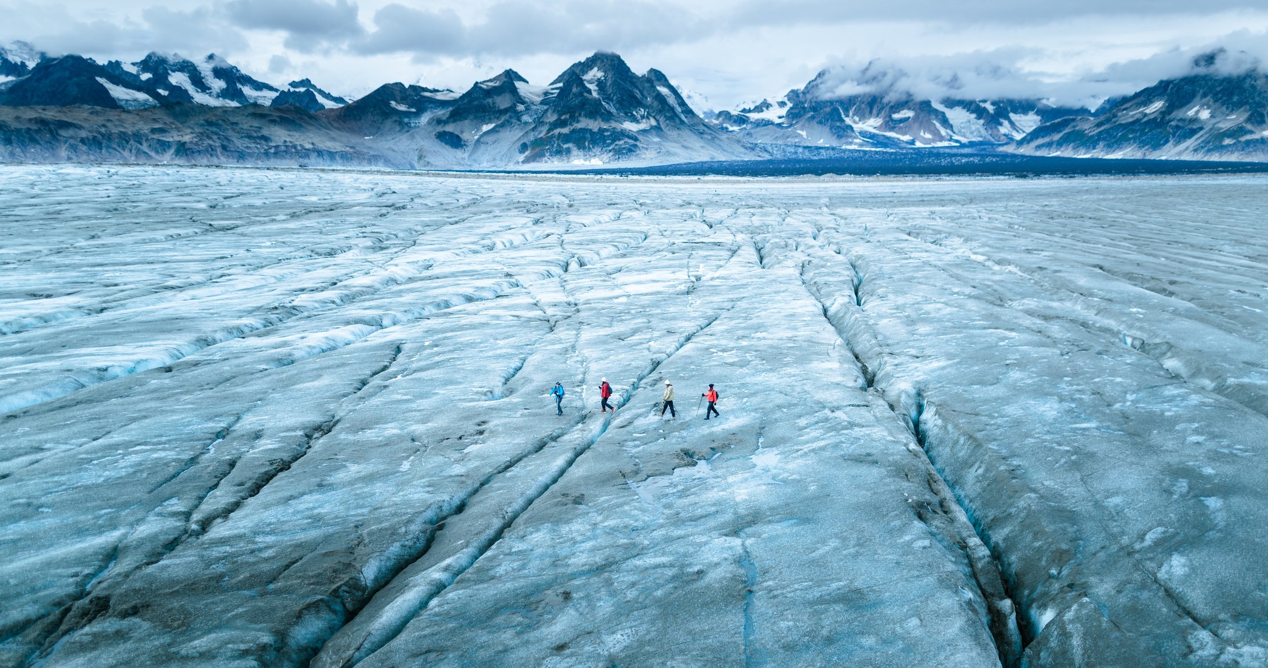 glacier trekking in alaska with eddie bauer