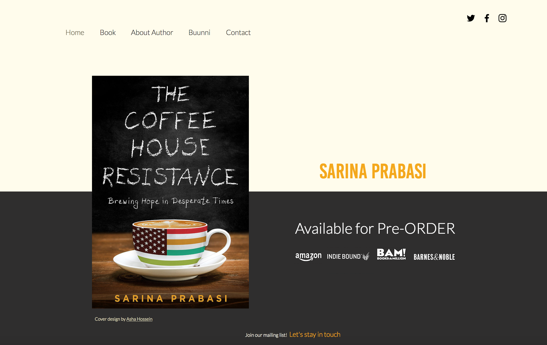 Sarina Prabasi - Author The Coffee House Resistance