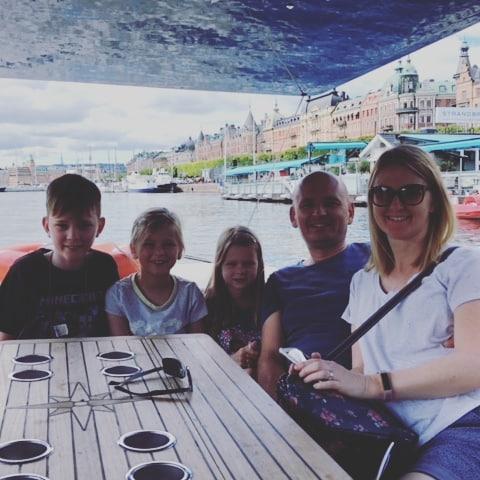 Family time on board!  #visitstockholm🇸🇪 #solarboatstockholm #stockholmsightseeing