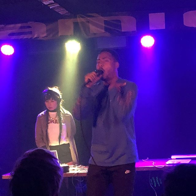 Rap week continues  @cadenceweapon owns this!  @hualigram holding down the tracks  #rapskatoon #rap #hiphop #liveshow