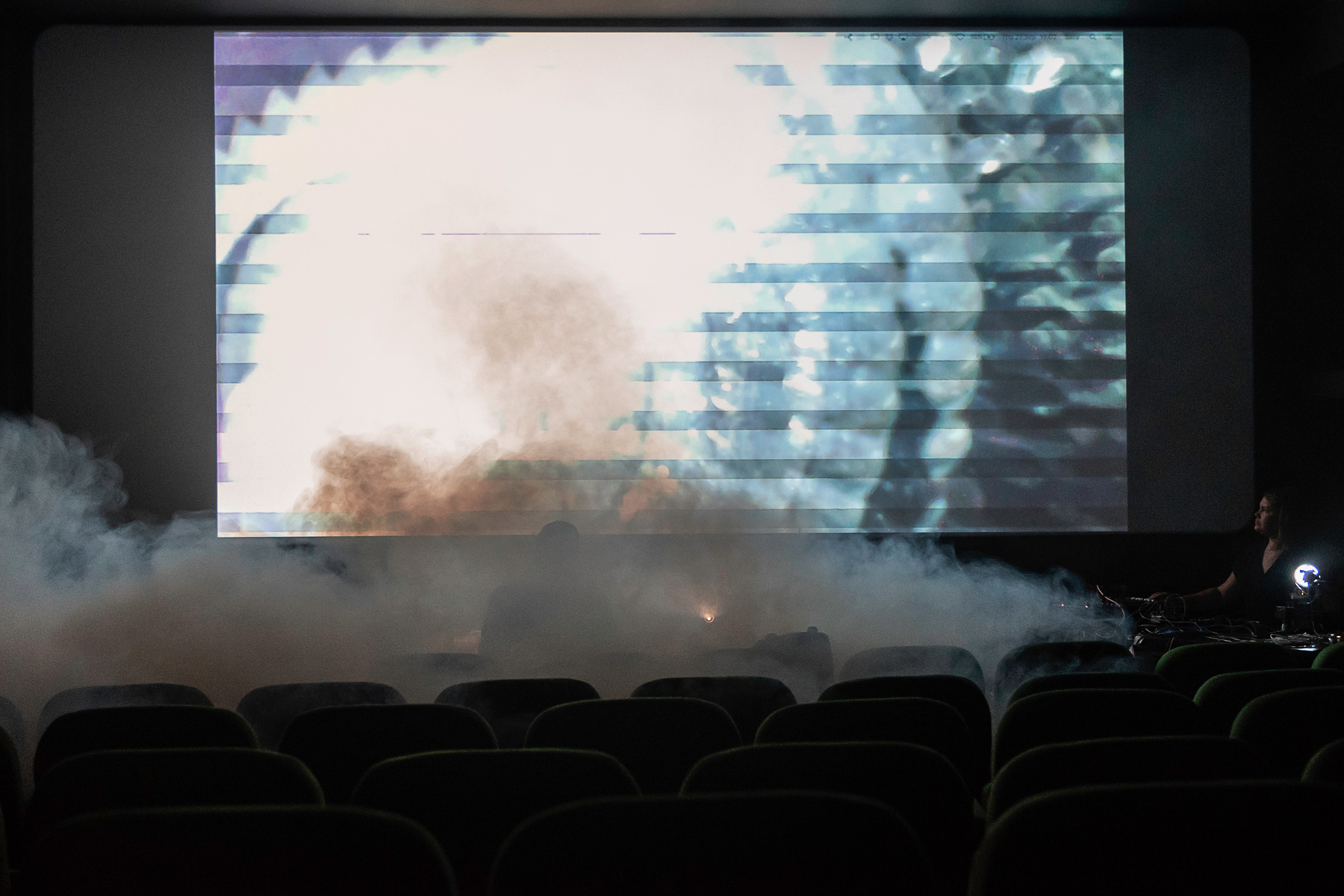 Decompression - Spatial-Golding present an immersive space situated between cinema and club. Specially made for a re-invented cinema context.