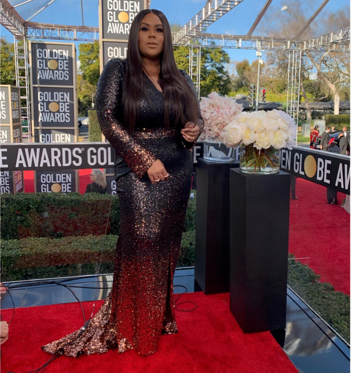 Nina Parker, host at 2019 Golden Globes