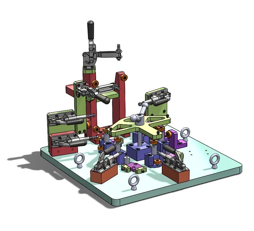 Solidworks  model of modular welding fixture