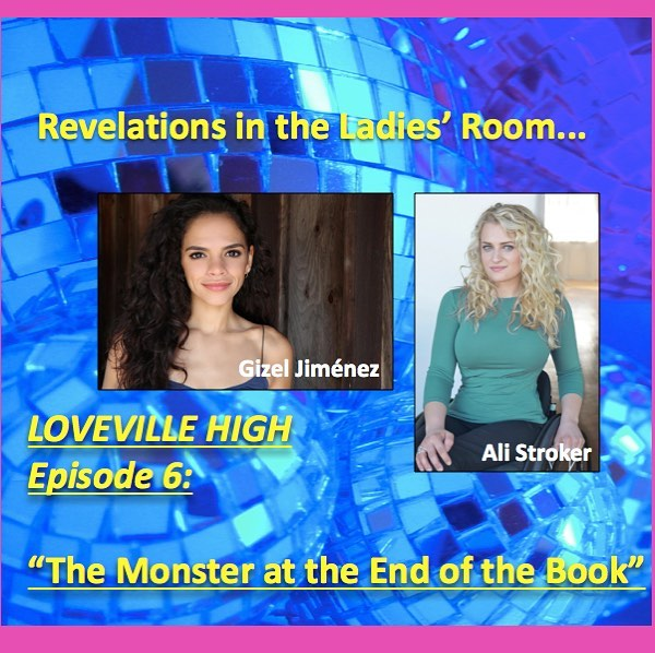 New episode out! Love and revelations in the ladies room starring the amazing Gizel Jiménez and Ali Stroker! super romantic! Also the opposite of romantic 😉Download now!