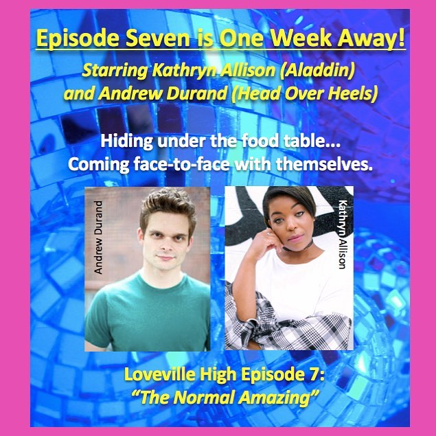 Thrilled to announce episode 7 is one week away! And that star of Head Over Heels Andrew Durand @durandrew joins Loveville with the ever stellar Kathryn Allison @kathryndallison! Can't wait for you to hear!
