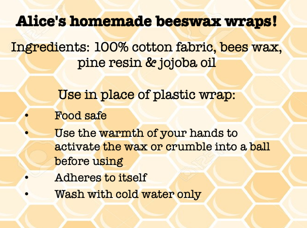 These wax wraps will last several months! Just make sure you only wash them with mild dish soap and cold water. Heat will melt the wax and remove it from the cloth.