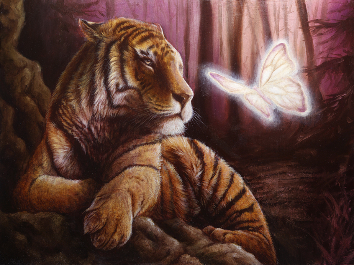 surreal tiger painting