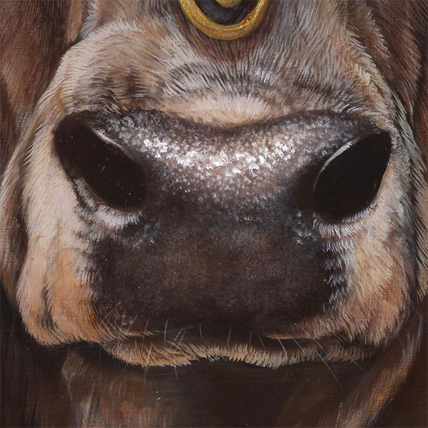 Royal Cow Oil Painting Portrait