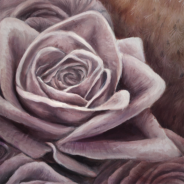 pretty pastel rose art