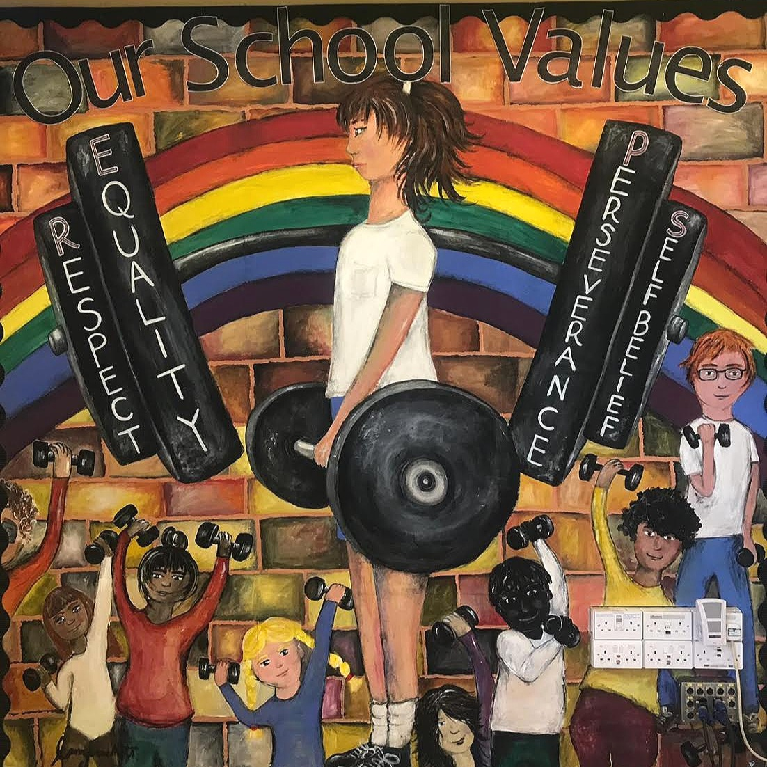School Values Display - 2.5 x 3 meters
