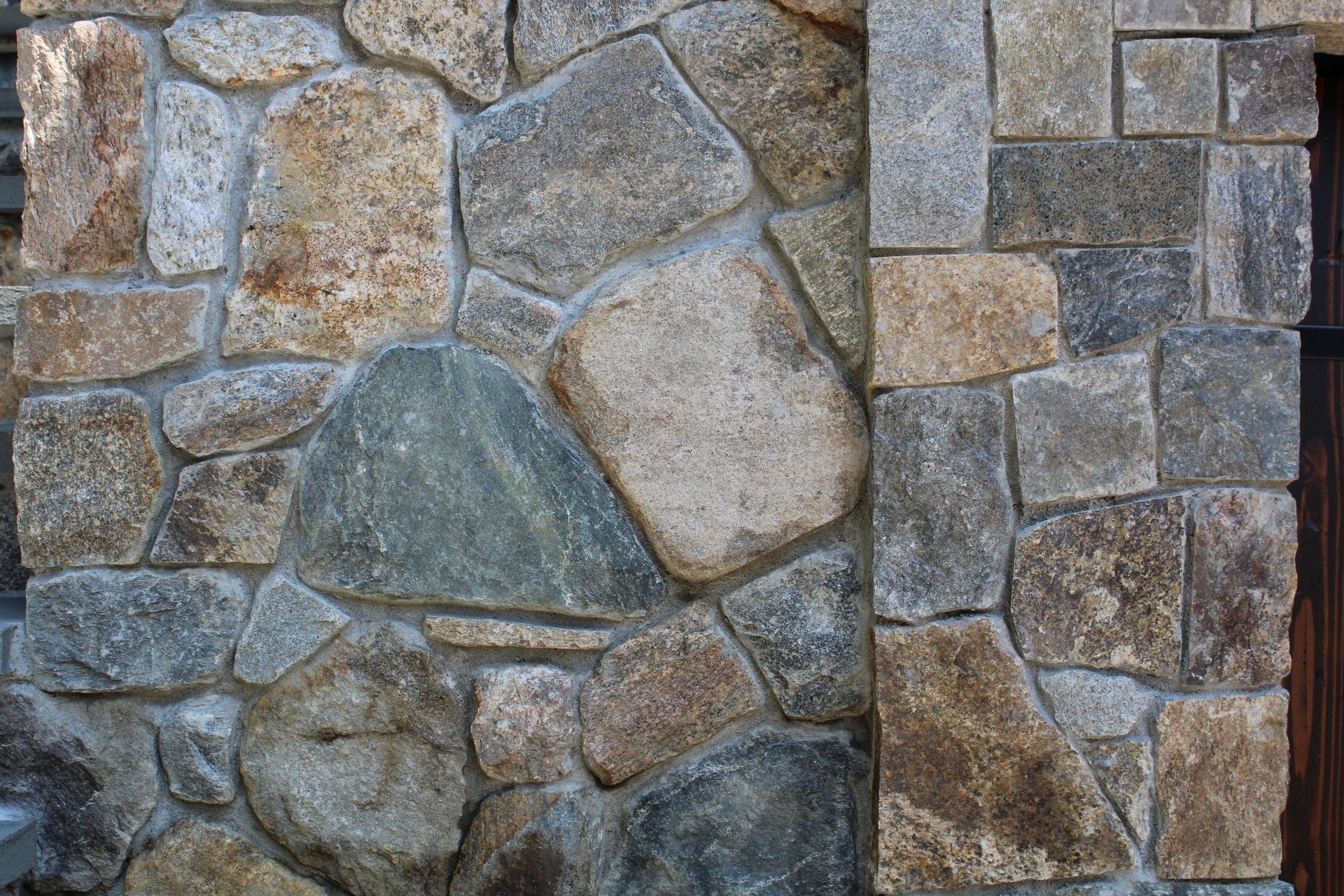 New england flat fieldstone wall