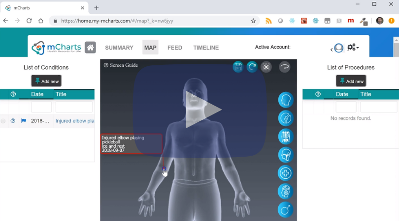 Create & manage a condition - These are the steps you need to know to place a condition on your body map and in your record manually.