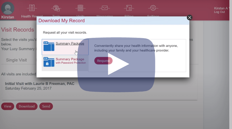 Health summary download - example Taken from the UCHealth system on the epic portal