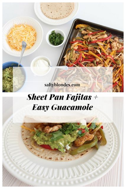 Salty Blondes | Sheet Pan Fajitas
