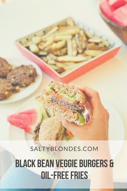 Salty Blondes | Black Bean Burgers