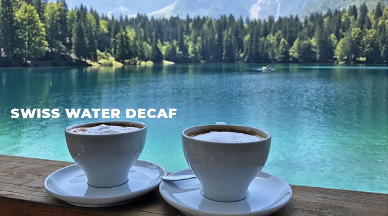 All of our decaf coffees are 100% chemical free as we use the patented Swiss Water Process to decaffeinate our premium Arabica coffee beans. See how it's done    HERE