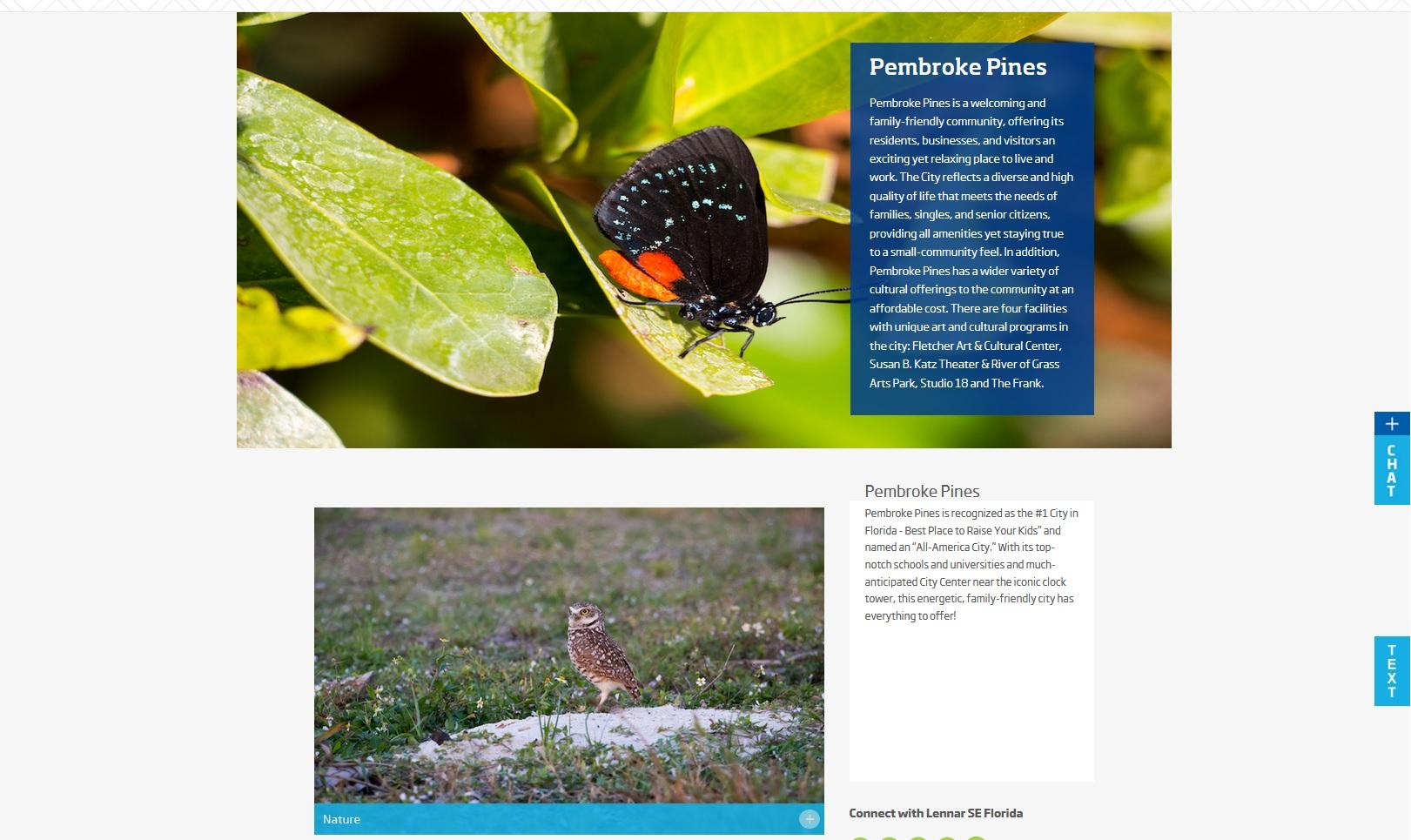 Atala butterfly & owl (Lennar real estate - Miami, Florida)