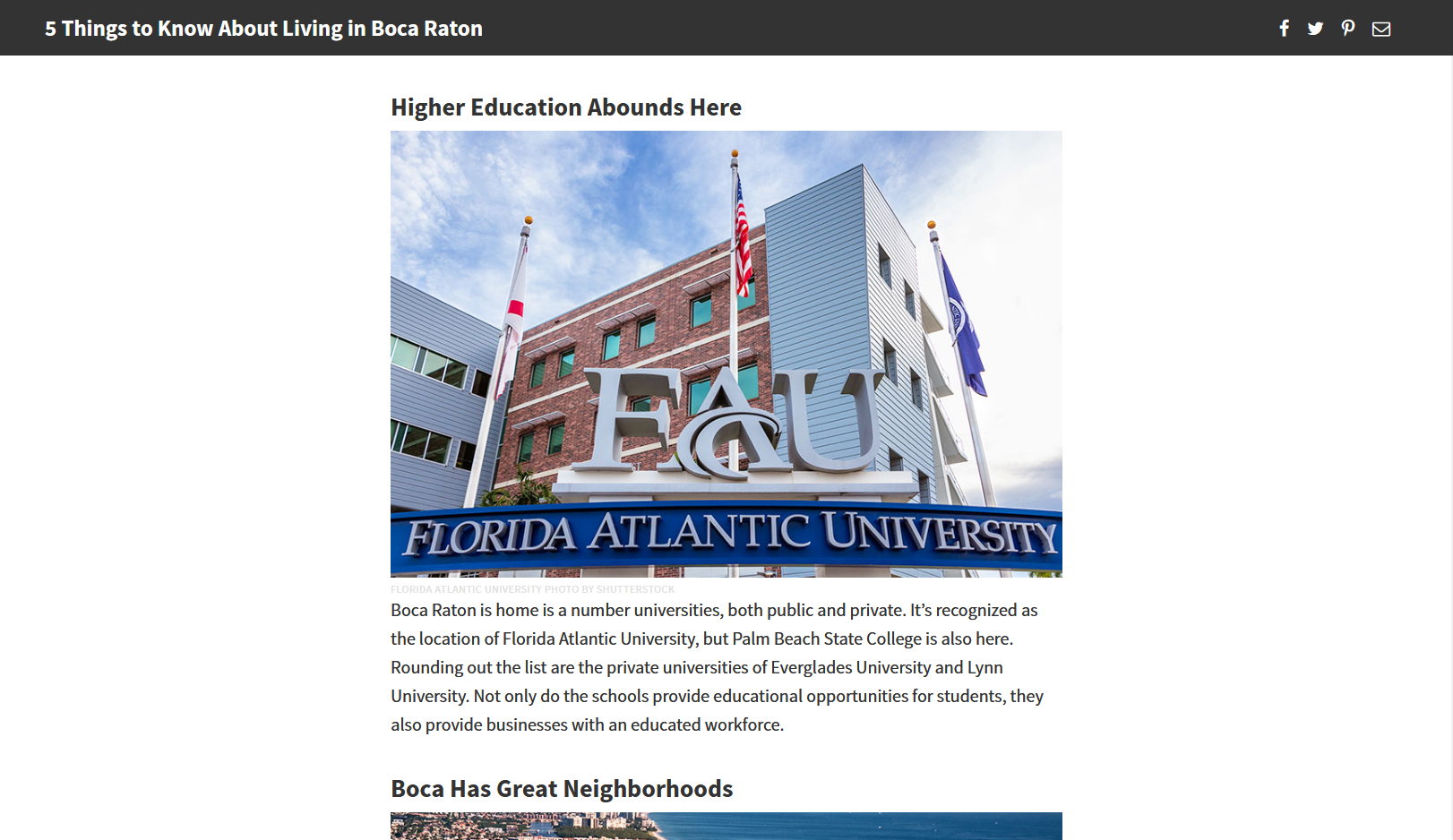 FAU entrance (Neighborhoods.com)