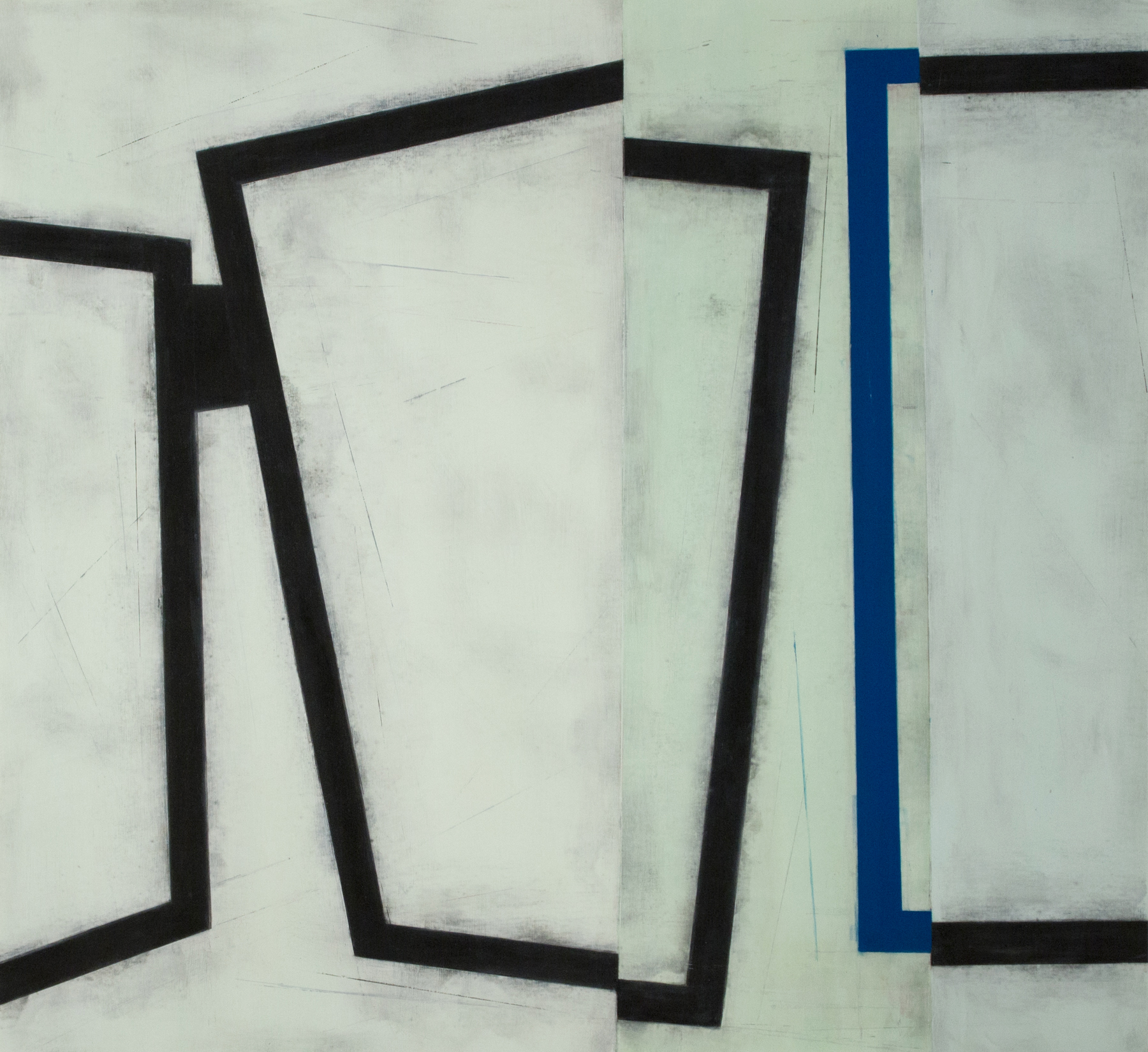 Mobility of Frames D9  |  2017  |  oil on Mylar  |  29.5 x 32 inches
