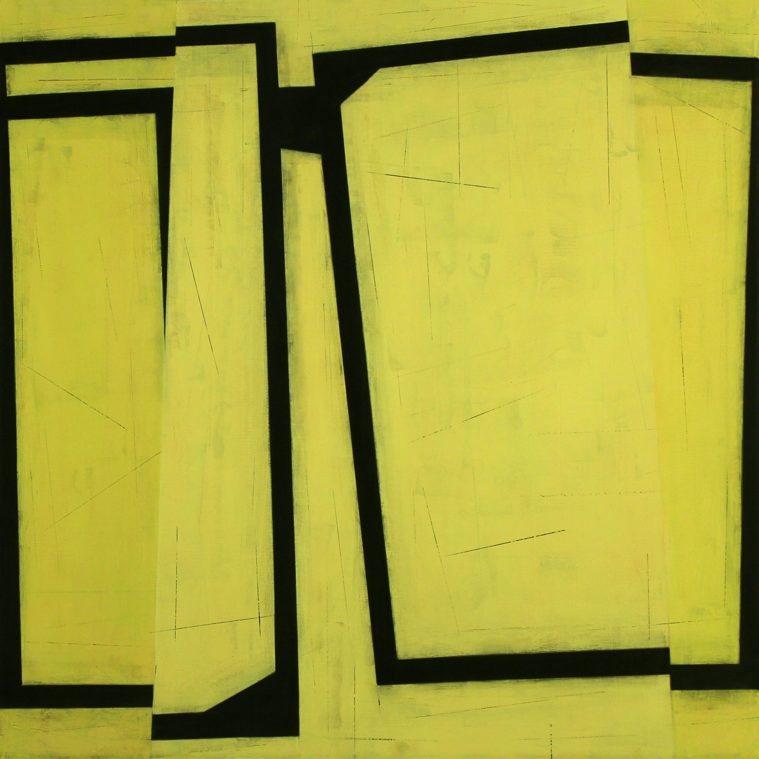 Jump Cut E1  |  2018  |  oil on canvas  |  50 x 50 inches