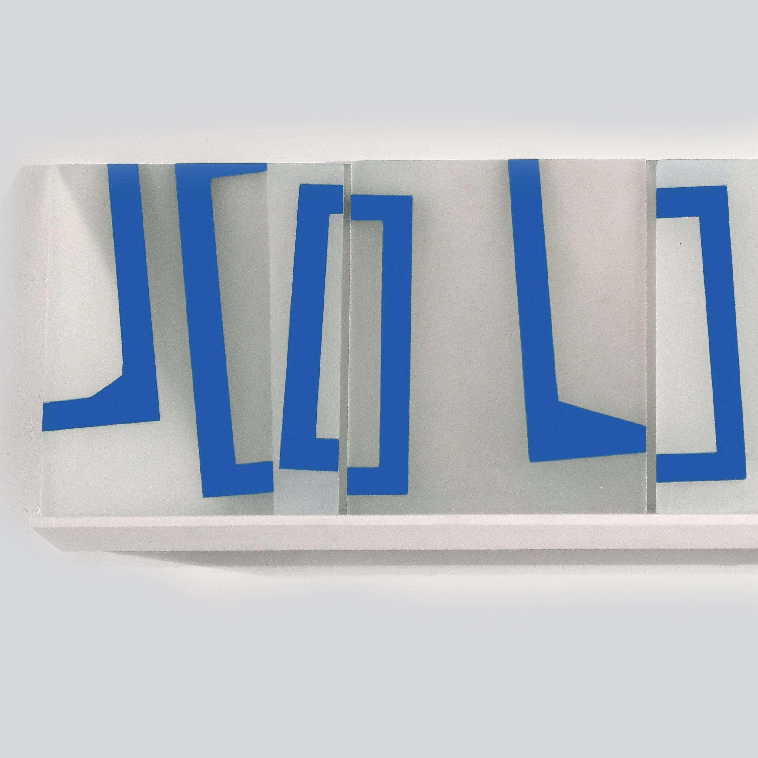 Mobility of Frames K1 (detail)     2018     acrylic on plexiglass, shelf     13 x 37.5 inches