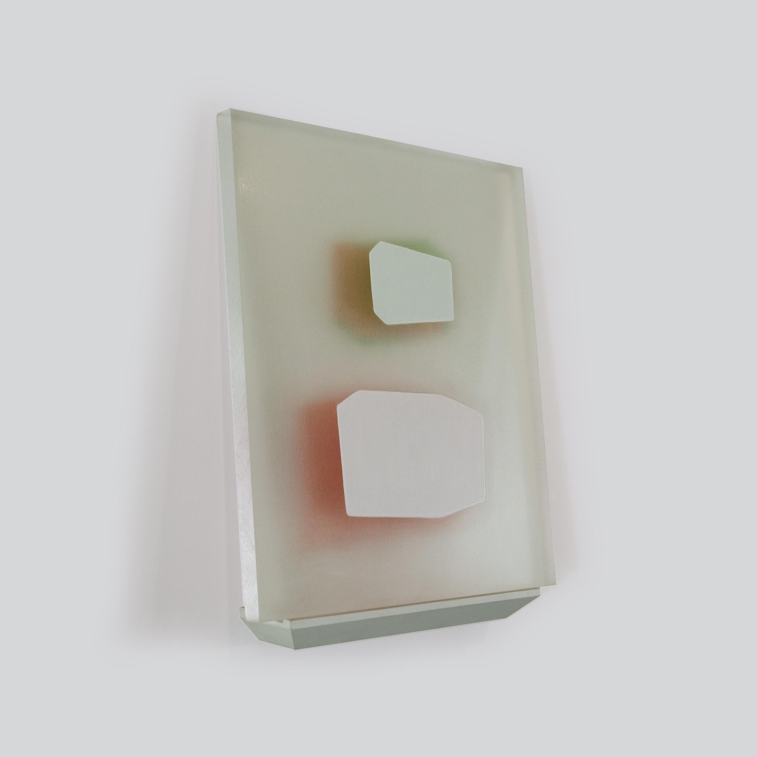 Ruse of Transparency 13     2009     acrylic on plexiglass, shelf     17 x 13 inches