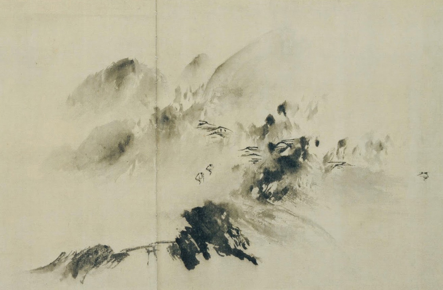Figure 15;  Mountain Village in Clearing Mist , Yu Jian, 1220