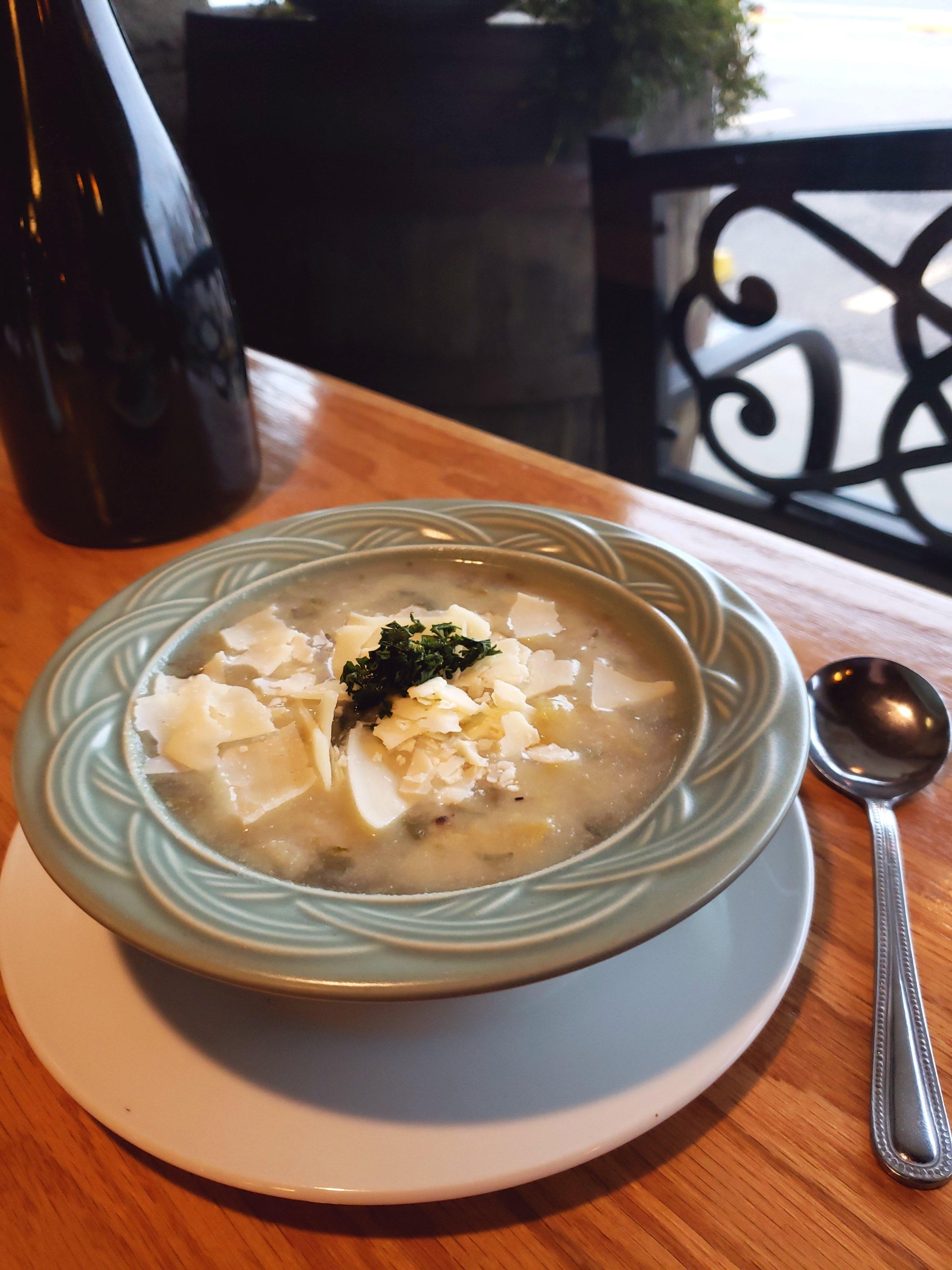 tuscan white bean soup at bettola