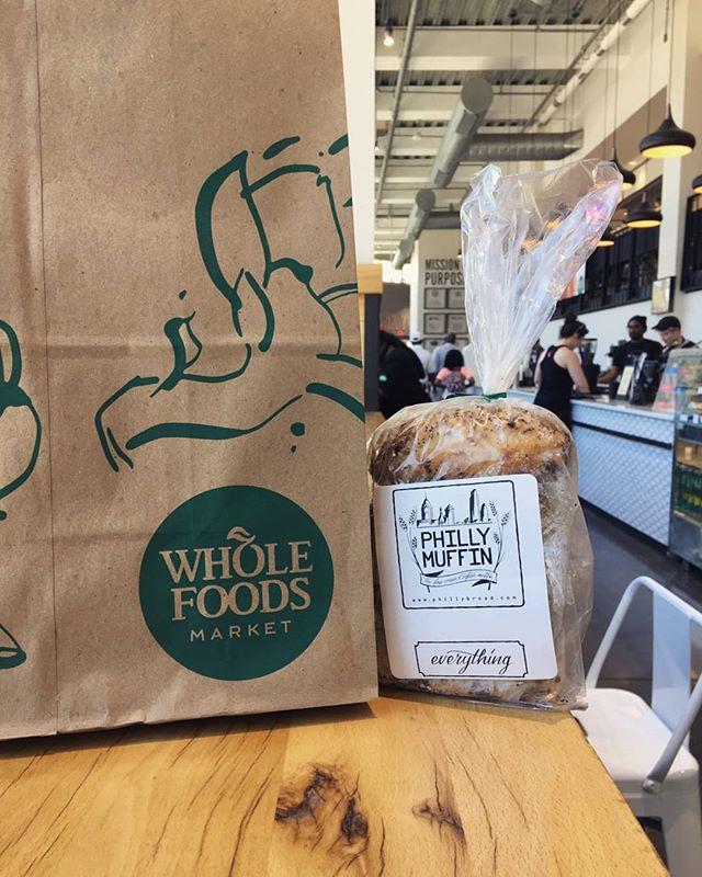 Yooo, we are stocked at the @wholefoods in #newtownsquare #southstreetphilly and #wynnewood. We plan to roll out into more in the very near future.  Want a #phillymuffin in your Whole Foods Market?? Bug the staff and your wish will come true 🤣🤣. #baker #englishmuffin #bread #local