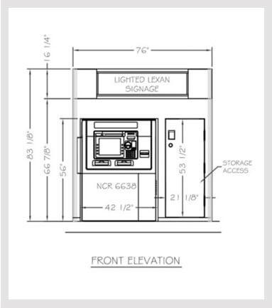 Model   3875 Low Profile Enclosure w/ Highlighter / Storage NCR 6638
