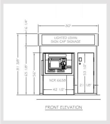 Model   5575 Low Profile Enclosure w/ Highlighter / Storage Diebold Opteva 750