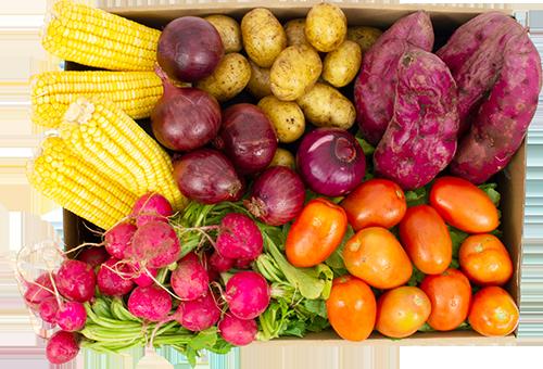 Legumes grande - R$ 95,90 por cesta