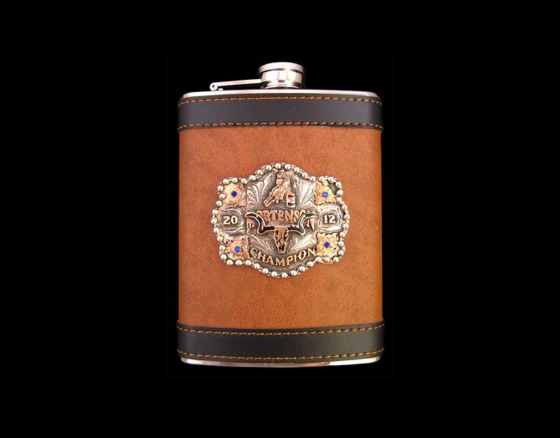 Brown Leather, Custom Emblem