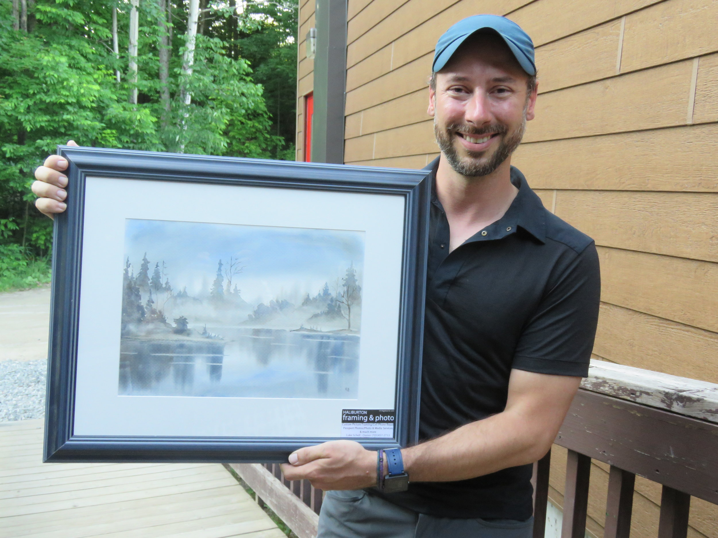 Ryan donated this beautiful watercolour painting to Camp Wanakita's fundraising auction!
