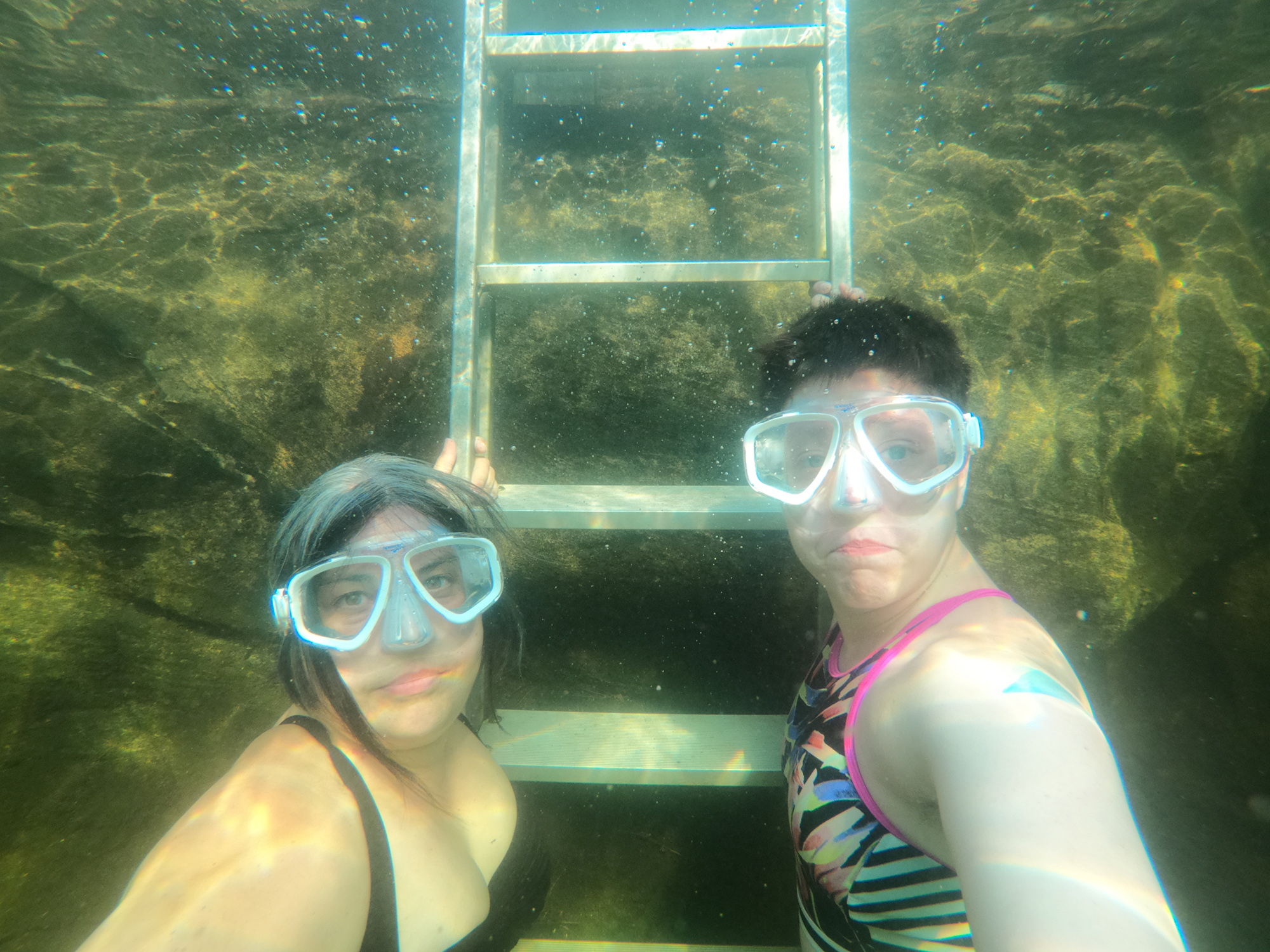 Anna and April underwater (in their natural habitat)