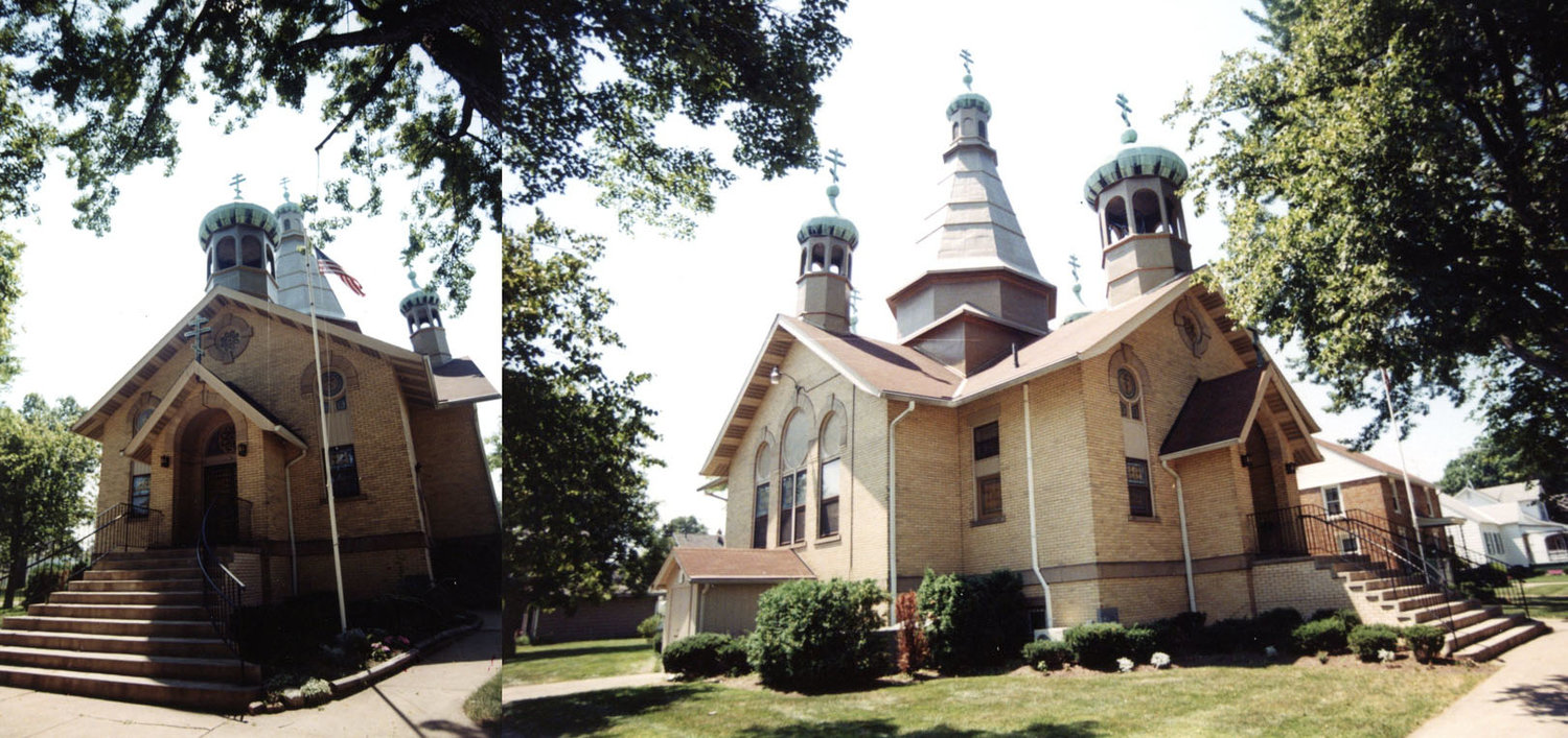 Photo taken on July 30, 2003. SS Peter and Paul Russian Byzantine Orthodox church at the corner E 32nd and Gary in South Lorain