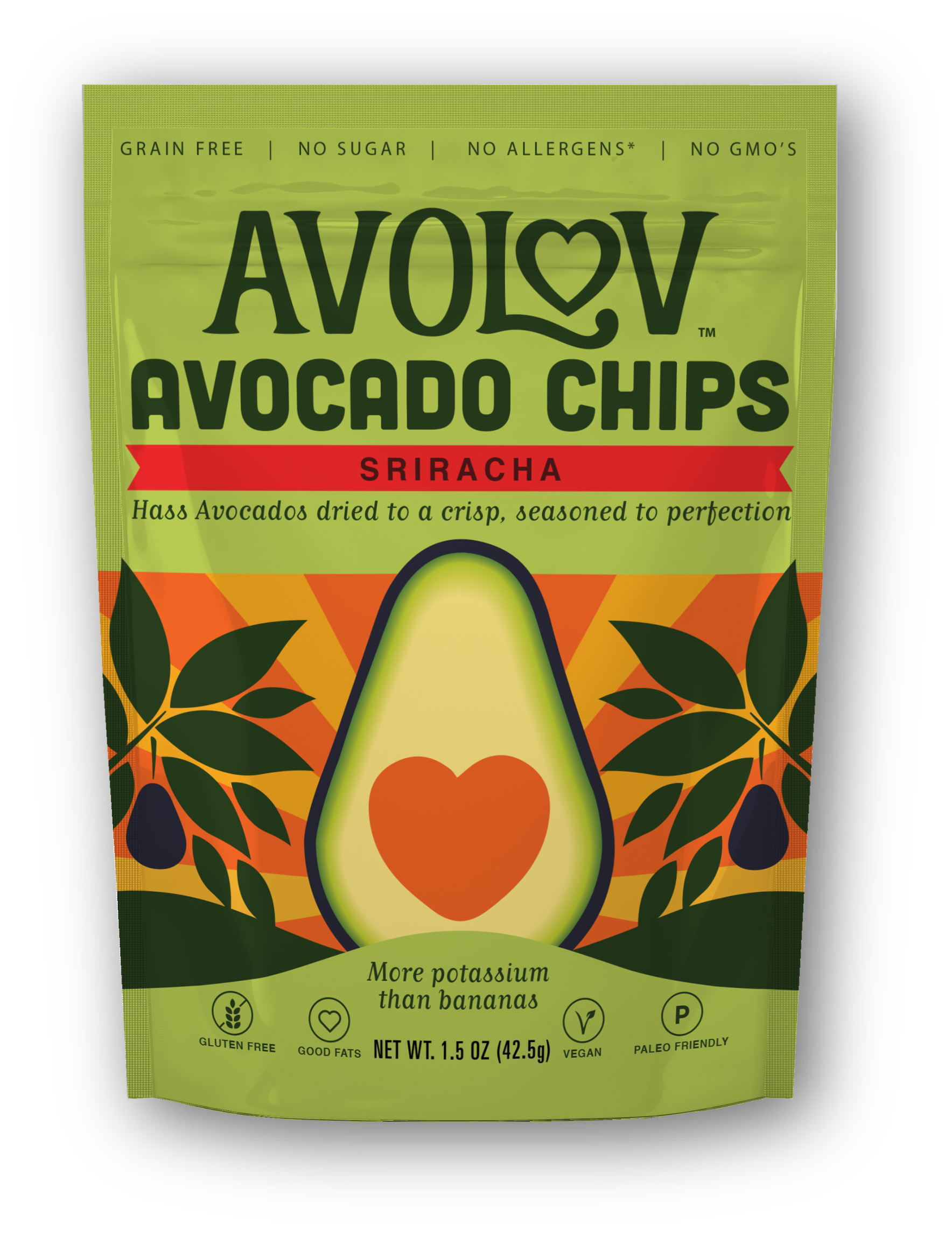 Sriracha Avocado Chips