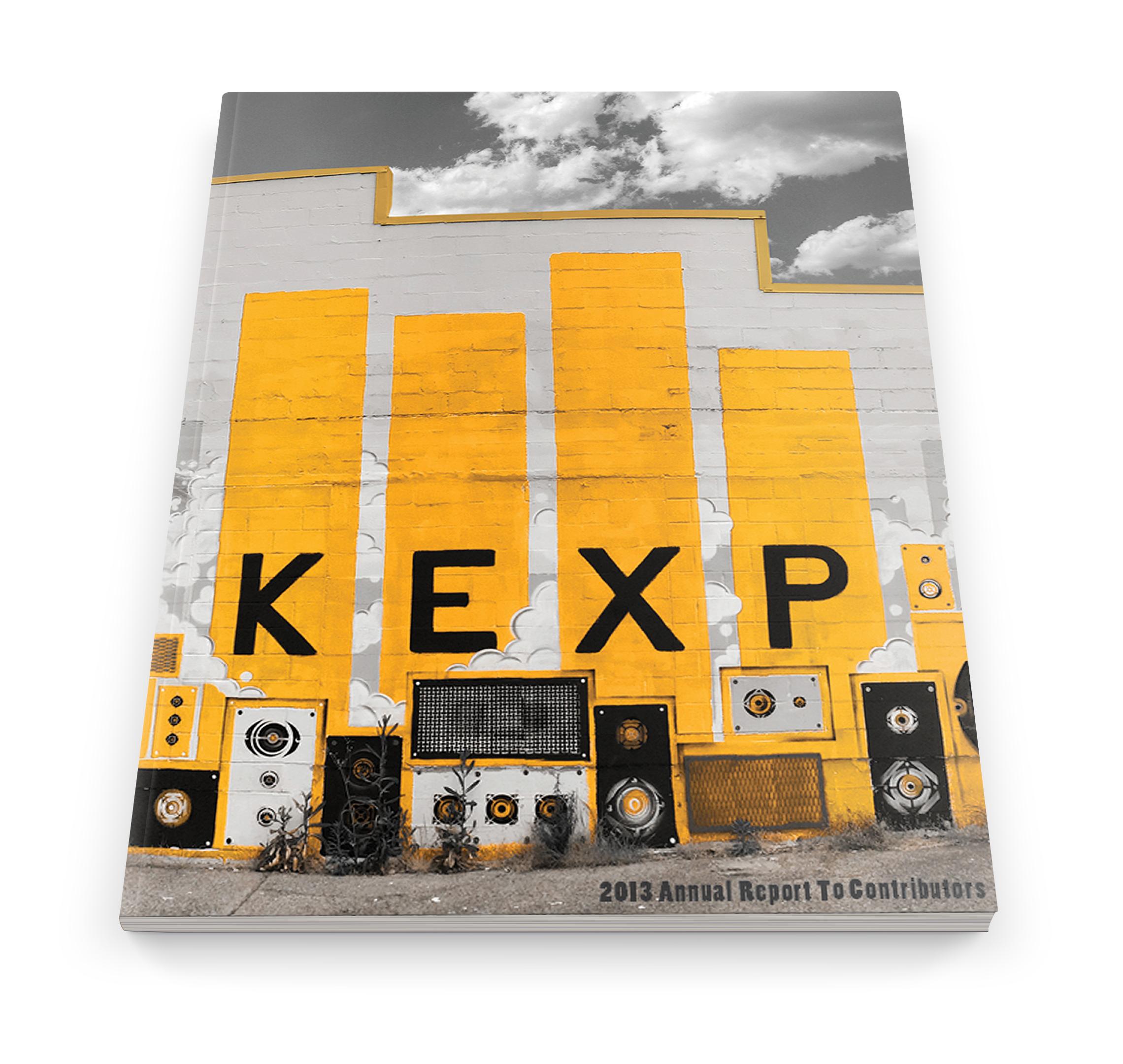 KEXP annual report  |  graphic design