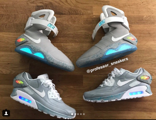 CUSTOMS Nike air mag — Electro Kicks