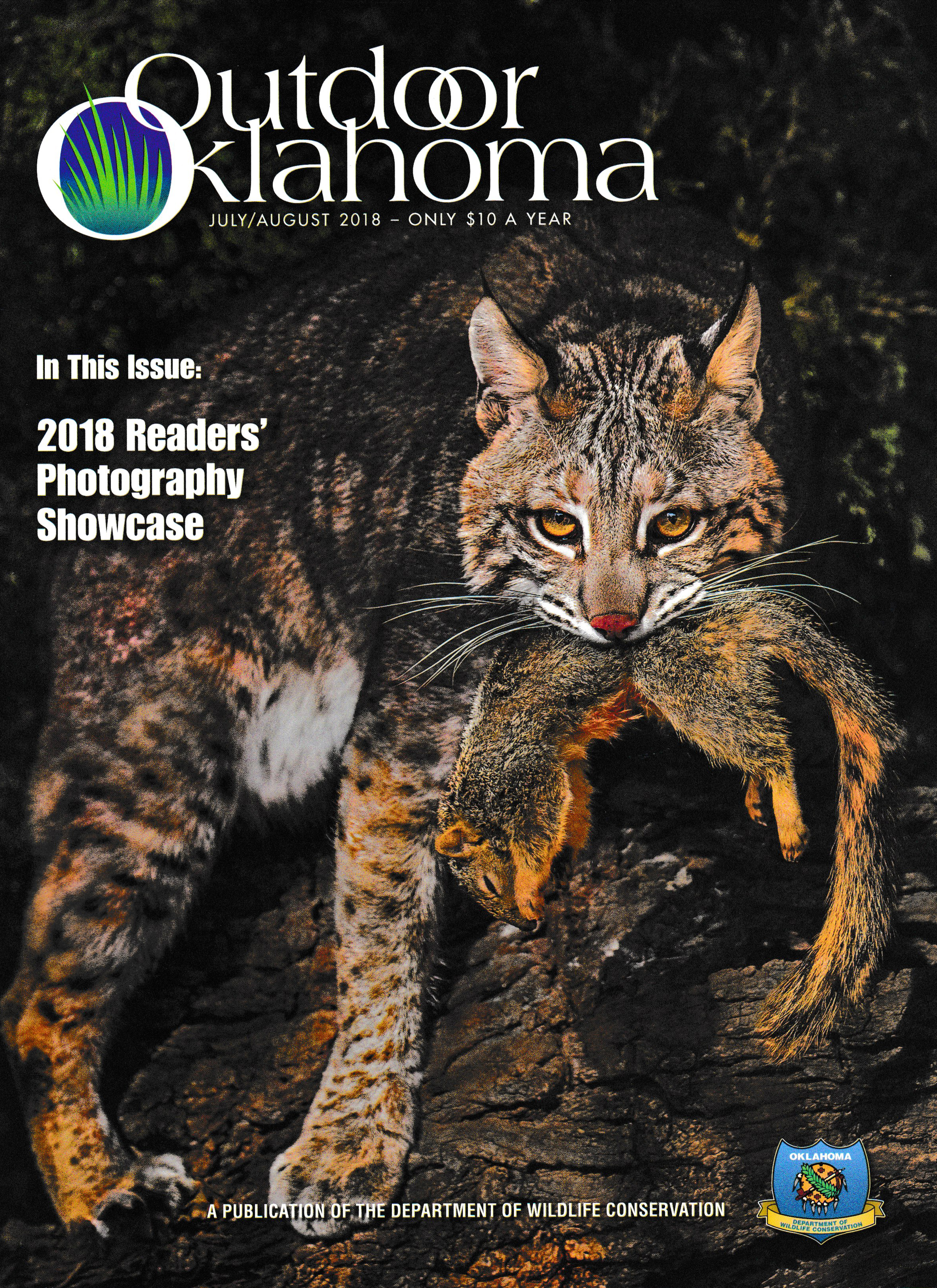 The cover of the July/August issue of Outdoor Oklahoma.(Not my photo)